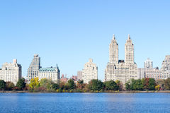 Iconic views of the Upper West Side by the Central Park Reservoi Stock Photos