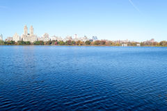 Iconic views of the Upper West Side by the Central Park Reservoi Stock Image