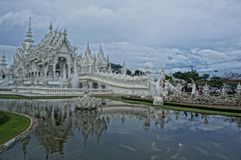White Temple in Chiang Rai in north Thailand royalty free stock image