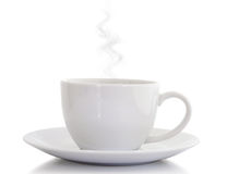 Iconic white cup Royalty Free Stock Image