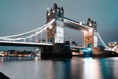 The iconic and worldwide famous Tower Bridge - London stock photography