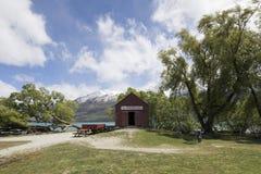 Iconisch botenhuis in Glenorchy, Nieuw Zeeland royalty-vrije stock foto's