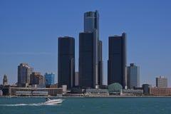 Iconisch ` de Renaissancecentrum ` van Detroit ` s royalty-vrije stock fotografie