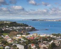 Iconisch hoog meningspunt van de stad van Auckland stock foto's
