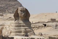 Iconisch, oud en vorstelijk - de Sfinx, Kaïro Egypte royalty-vrije stock afbeelding