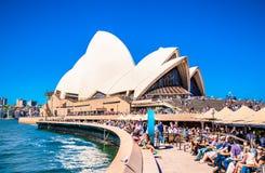 Iconisch Sydney Opera House in Sydney, Australië royalty-vrije stock foto