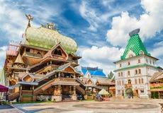 Iconische complexe Izmailovskiy het Kremlin in Moskou, Rusland royalty-vrije stock foto