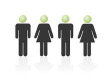 Iconische de vrouw van de man, tweepersoons, vrouw twee Stock Foto