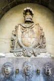 Iconische fontein op Ramblas in Barcelona Stock Foto