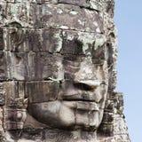 Iconische Gezichten van Bayon Kambodja Royalty-vrije Stock Afbeeldingen