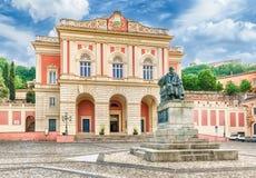 Iconische Piazza XV marzo, oude stad van Cosenza, Italië Royalty-vrije Stock Foto's