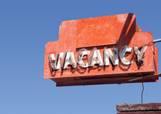 Iconische Route 66 Motelverkeersteken Stock Foto's