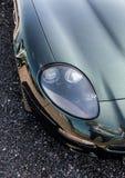 Iconische sportwagenkoplamp stock foto