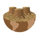 icono árido de la tierra del planeta libre illustration