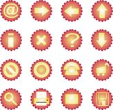 icono 16 fijado - asoleado Fotografía de archivo libre de regalías
