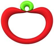 Icono 3d de Apple Imagen de archivo libre de regalías