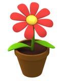 Icono 3d de la flor Foto de archivo