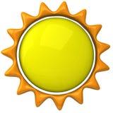 Icono 3d de Sun Imagen de archivo libre de regalías