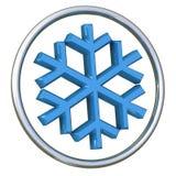 Icono 3d del copo de nieve Imágenes de archivo libres de regalías