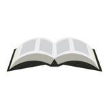 Icono abierto del libro en un estilo plano en un fondo blanco Ejemplo abierto del símbolo de la biblia Imagenes de archivo