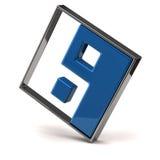 Icono abstracto 3d de yang del yin Fotografía de archivo