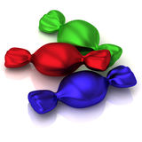 Icono abstracto 3d del caramelo Imagen de archivo libre de regalías