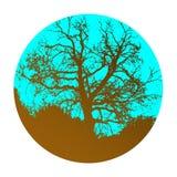 Icono abstracto aislado del árbol, composición del logotipo ilustración del vector