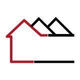 Icono abstracto colorido de los apartamentos de la silueta libre illustration
