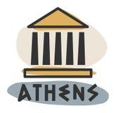 Icono abstracto de Atenas Foto de archivo
