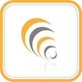 Icono abstracto de Internet del vector Imagenes de archivo