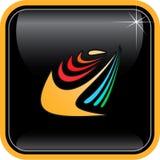 Icono abstracto de Internet del vector Imagen de archivo libre de regalías