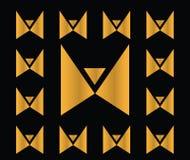 Icono abstracto de la mariposa stock de ilustración