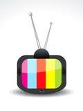 Icono abstracto de la televisión Imagen de archivo libre de regalías