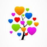 Icono abstracto del corazón del eco del árbol del negocio Imágenes de archivo libres de regalías