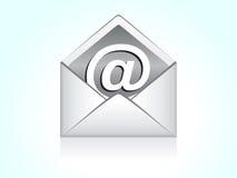 Icono abstracto del correo Fotografía de archivo libre de regalías