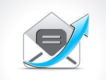 Icono abstracto del correo con la flecha libre illustration