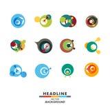 Icono abstracto del diseño del color de la molécula de la DNA del vector Imagen de archivo