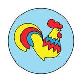 Icono abstracto del gallo del logotipo del gallo Imagenes de archivo