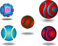 Icono abstracto del globo Imagenes de archivo
