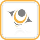 Icono abstracto del Internet del vector Imagenes de archivo