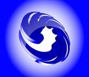 Icono abstracto del remolino 3d. Imagen de archivo