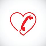 Icono abstracto del símbolo del vector del servicio de ayuda o del teléfono erótico Foto de archivo