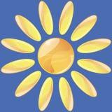 Icono abstracto del sol Fotografía de archivo