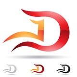 Icono abstracto para la letra D stock de ilustración