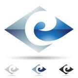 Icono abstracto para la letra E stock de ilustración