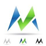 Icono abstracto para la letra M Fotografía de archivo libre de regalías