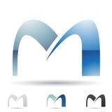 Icono abstracto para la letra M Imagenes de archivo