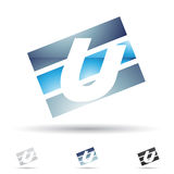 Icono abstracto para la letra U Imagen de archivo libre de regalías