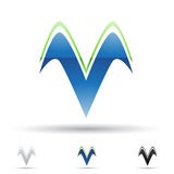 Icono abstracto para la letra V Foto de archivo libre de regalías