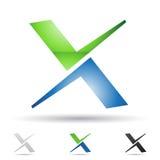 Icono abstracto para la letra X Fotos de archivo